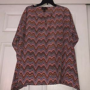 Dana Buchanan oversized XL multicolored blouse